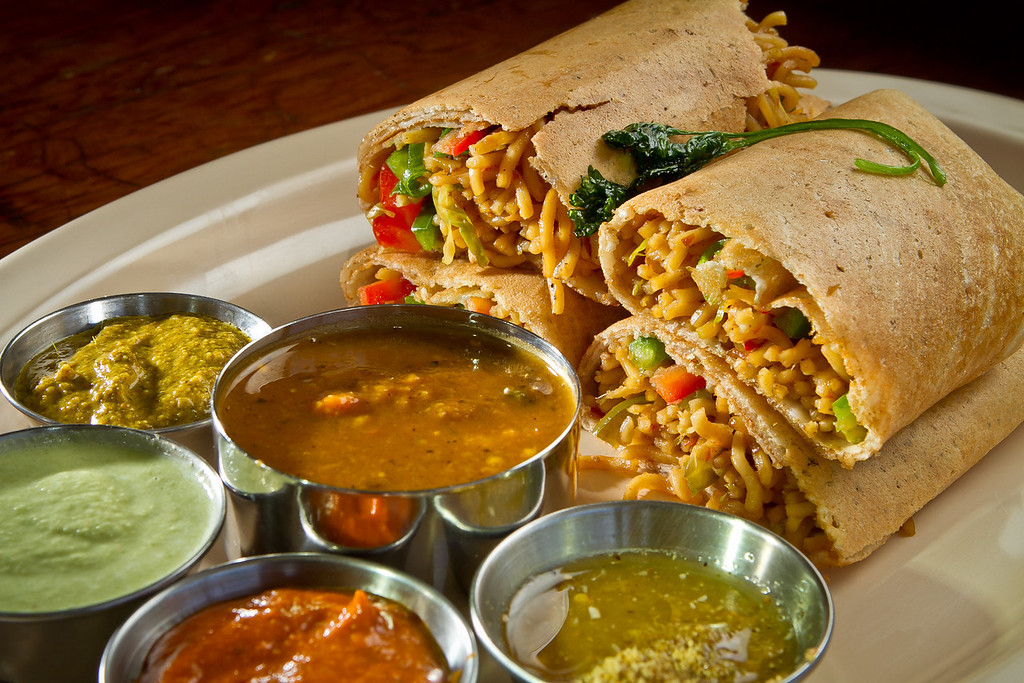The Tangra Dosa at Dosa Republic in San Mateo, Calif., is seen on Thursday, September 7th, 2012.