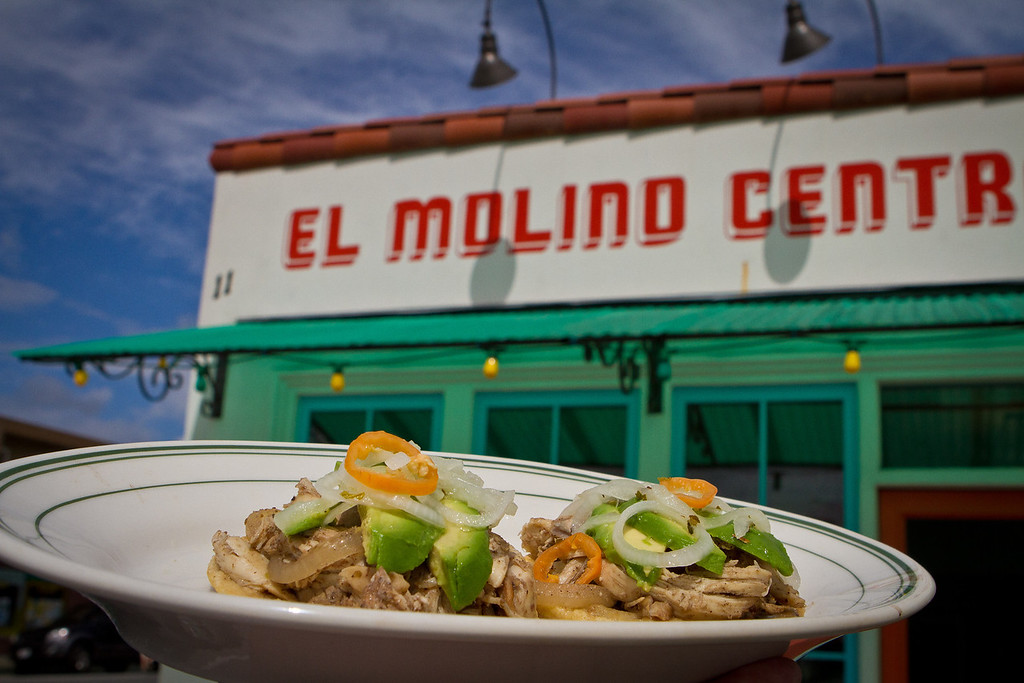 The Yucatecan Panuchos at El Molina Central in Boyes Hot Springs, Calif. is seen on April 12th, 2012.