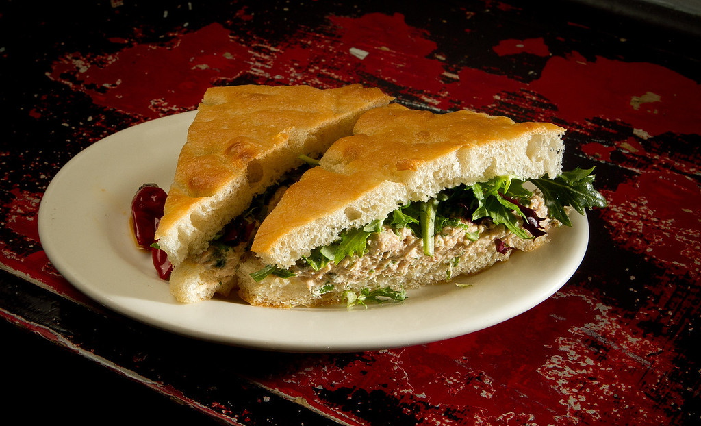 The Spicy Tuna and Caper Sandwich at the Farm Table restaurant in San Francisco , Calif., is seen on Thursday, December 22, 2011.
