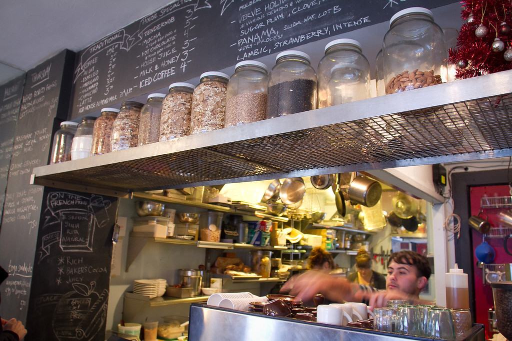 The interior of the Farm Table restaurant in San Francisco , Calif., is seen on Thursday, December 22, 2011.