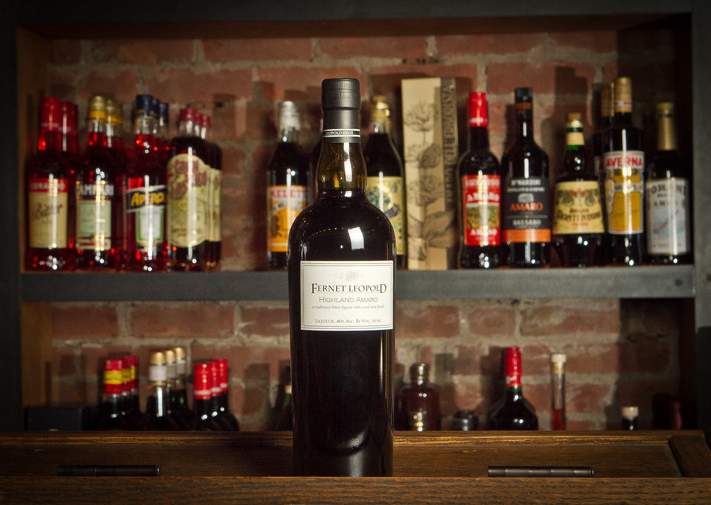 A bottle of a new custom bottling of the digestivo known as Fernet, made by the Leopold Brothers distillery is seen at the Cask in San Francisco, Calif., on Thursday, December 15th,  2011.