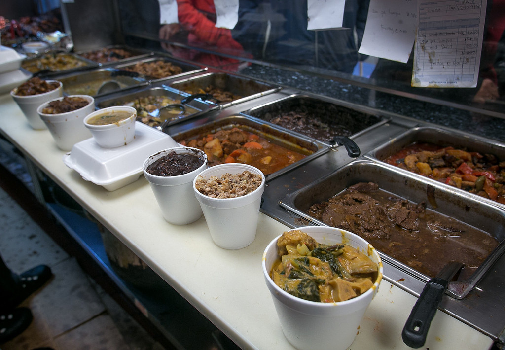 Food waiting for take-out at Fil-Am Cuisine in Daly City, Calif., is seen on Friday, November 16th, 2012.