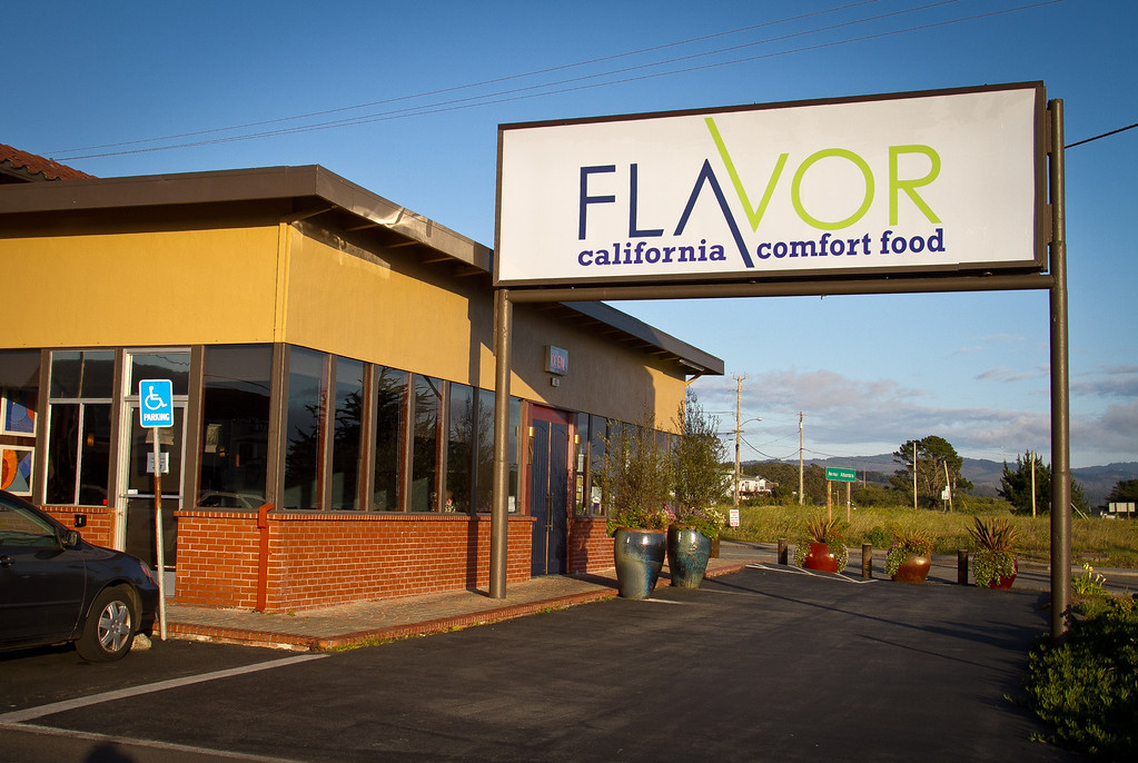 The exterior of Flavor Restaurant in El Granada,  Calif., is seen on Thursday, March 22nd, 2012.