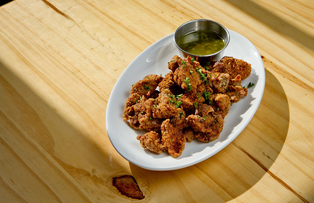 The fried Chicken Livers at Gilberth's Restaurant in San Francisco , Calif., is seen on Saturday, May 5th, 2012.