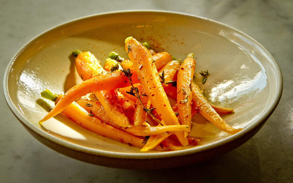 The Roasted Carrots at Giola Pizzeria in San Francisco, Calif., is seen on Friday, June 22nd, 2012.