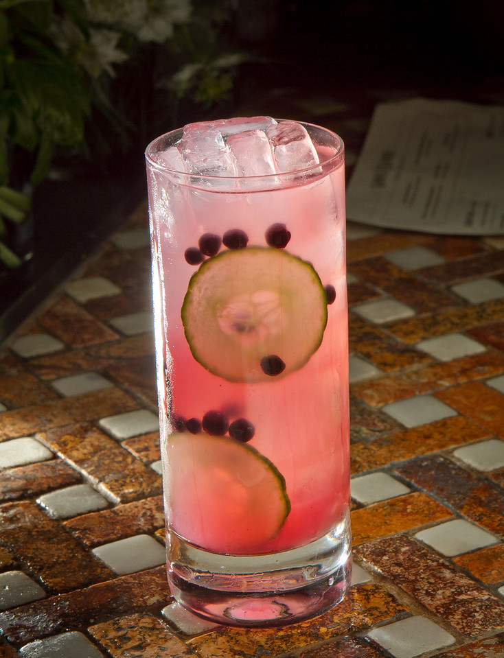 "The ""Cucumber Collins"" cocktail at Goose & Gander Restaurant in St. Helena, Calif., is seen on Wednesday, May 16th, 2012."