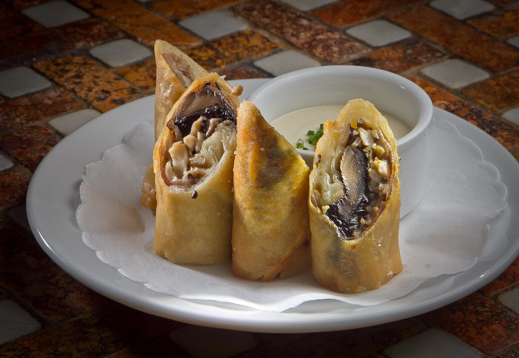 "The Mushroom ""Wellington"" Spring Rolls at Goose & Gander Restaurant in St. Helena, Calif., is seen on Wednesday, May 16th, 2012."