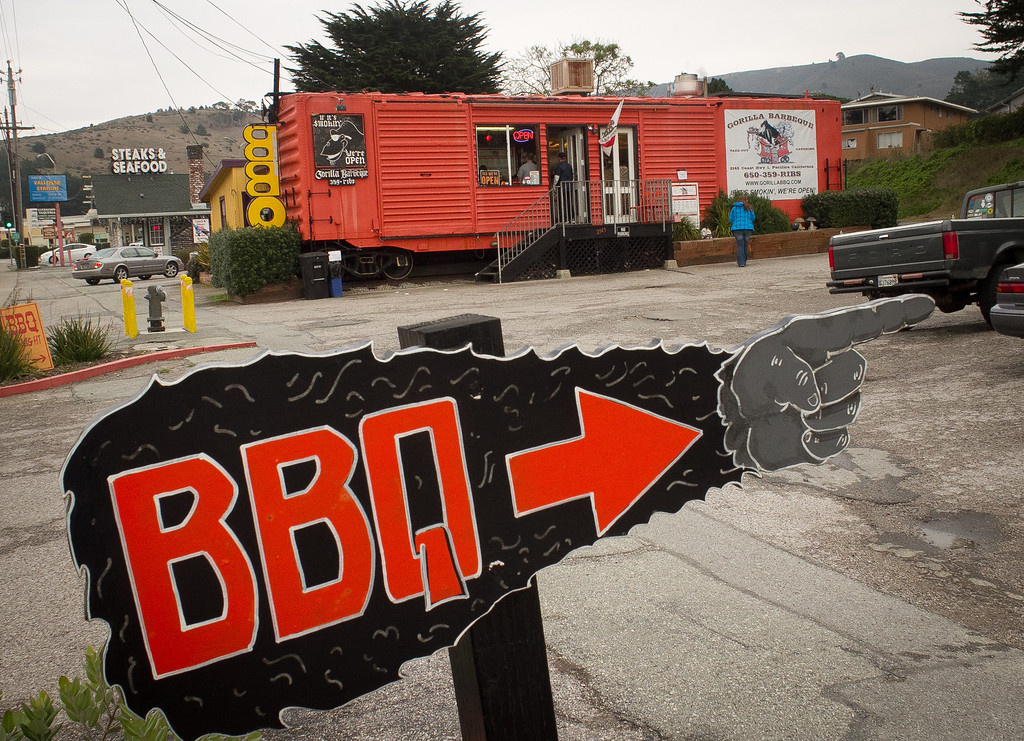 The exterior of Gorilla Barbeque in Pacifica, Calif., is seen on Monday, December 12th,  2011.