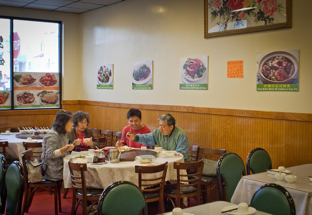 Diners enjoy dinner at Hakka restaurant in San Francisco, Calif., on Friday, November 2nd, 2012.