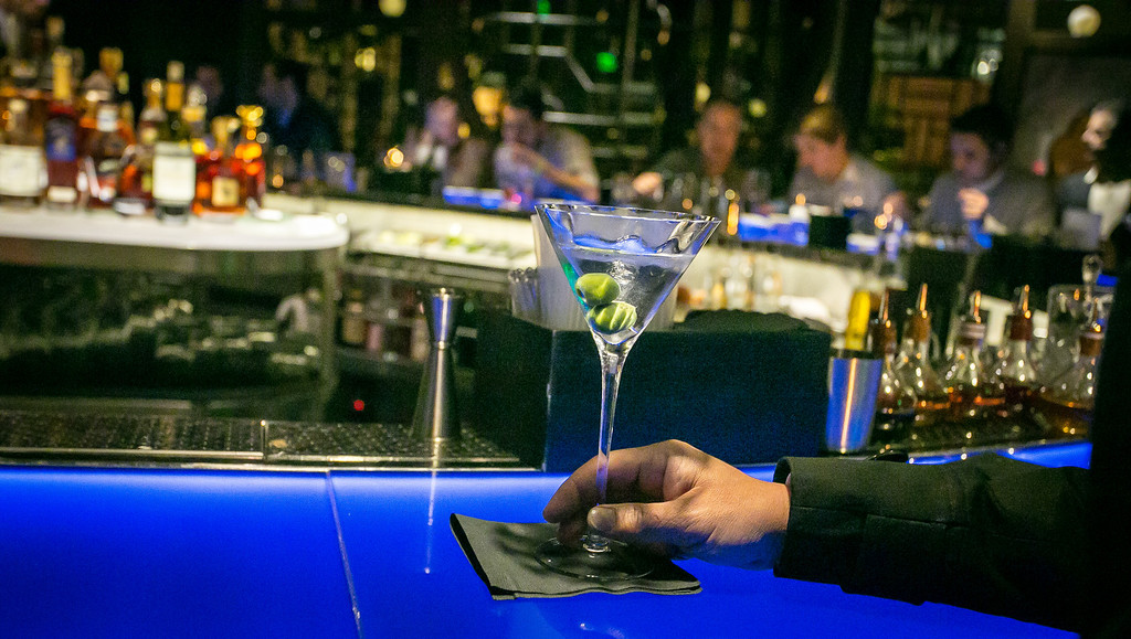 A Martini on the bar at Hakkasan restaurant in San Francisco, Calif. is seen on Wednesday, January 23rd, 2013.
