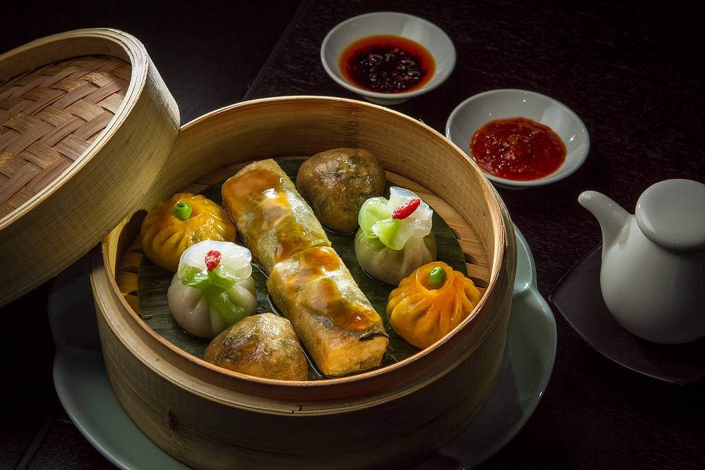 The Vegetarian  Dim Sum Platter at Hakkasan restaurant in San Francisco, Calif. is seen on Wednesday, January 23rd, 2013.