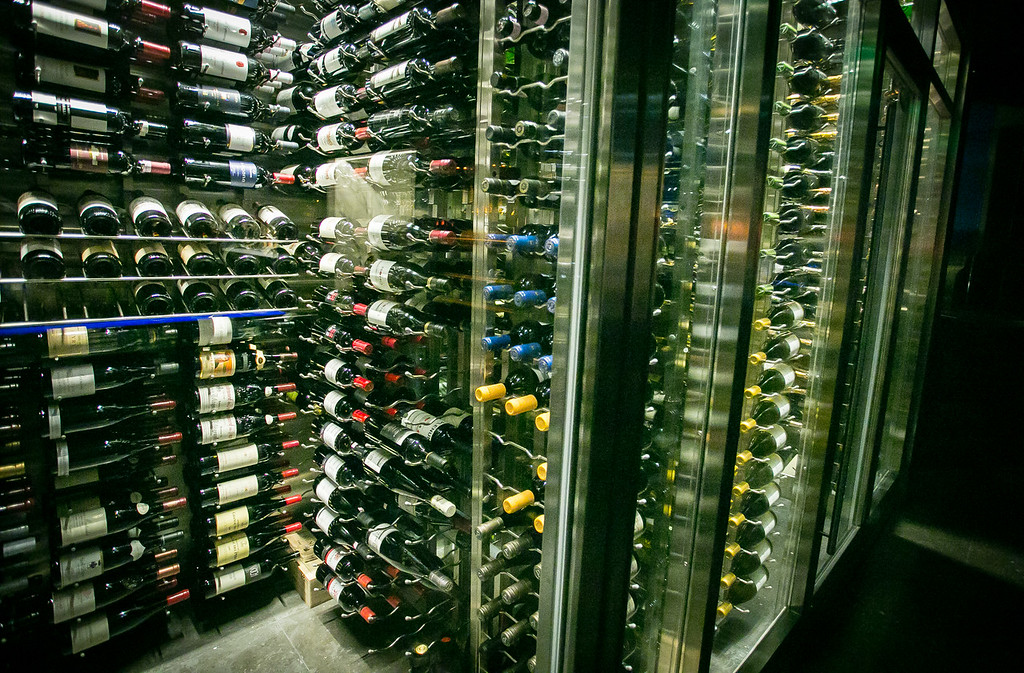 The wine storage at Hakkasan restaurant in San Francisco, Calif. is seen on Wednesday, January 23rd, 2013.