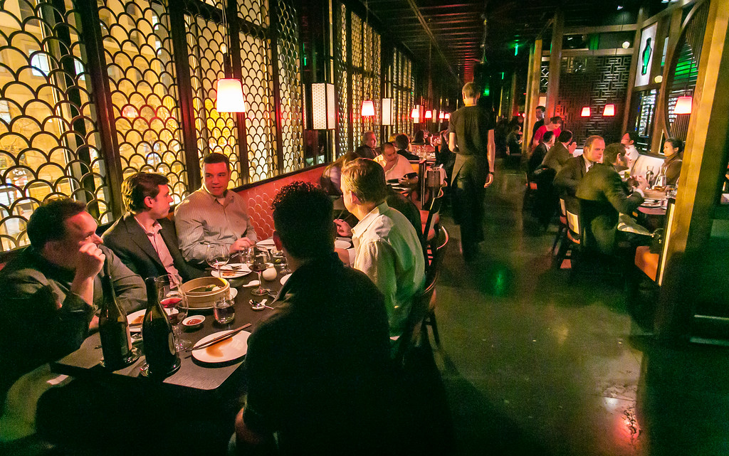 Diners enjoy dinner at Hakkasan restaurant in San Francisco, Calif. on Wednesday, January 23rd, 2013.