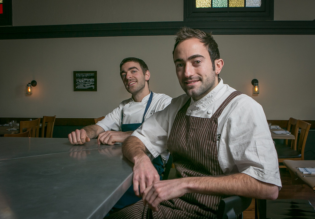 Chef/Owners Jonathan Sutton, (left), and Tony Ferrari at the Hillside Supper Club in San Francisco, Calif. are seen on Saturday, February 22nd 2013.