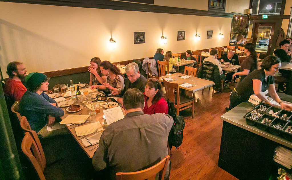 Diners enjoy dinner at the Hillside Supper Club in San Francisco, Calif. is on Saturday, February 22nd 2013.