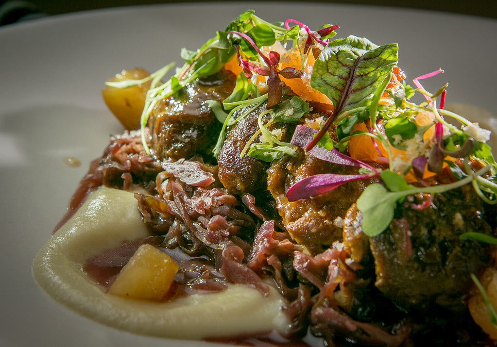 The braised Pork Cheeks at the Hillside Supper Club in San Francisco, Calif. is seen on Saturday, February 22nd 2013.
