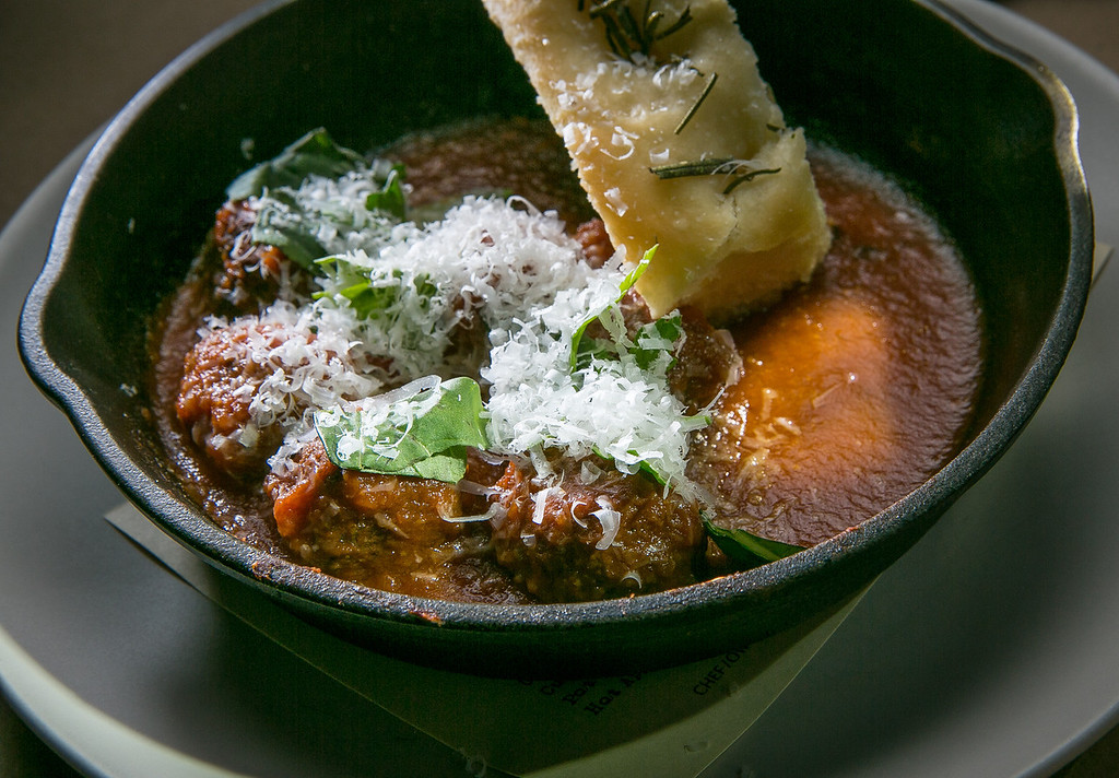 Nonna's Meatballs at the Hillside Supper Club in San Francisco, Calif. are seen on Saturday, February 22nd 2013.