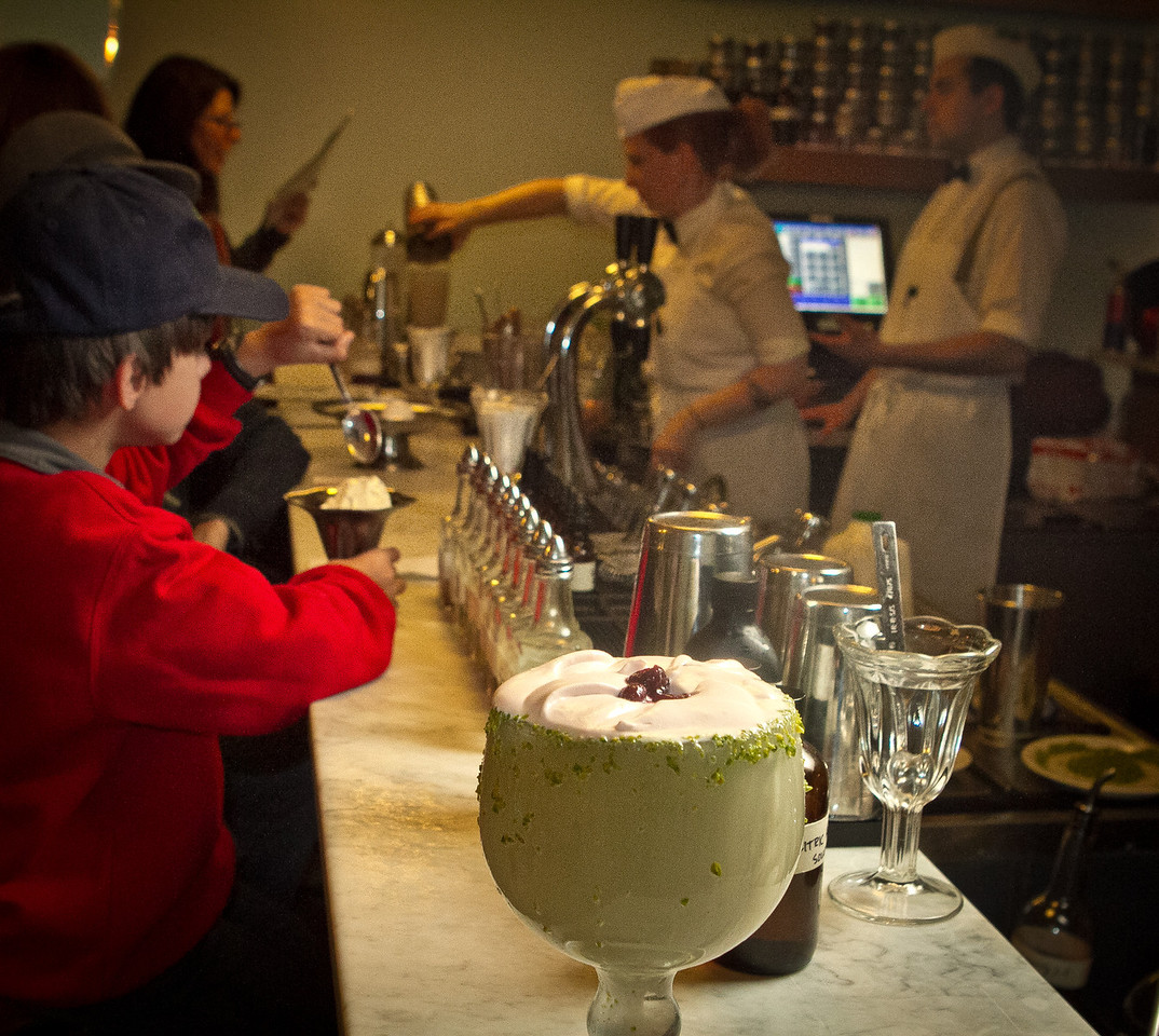 The Pistachio Milkshake at the Ice Cream Bar in San Francisco,  Calif., is seen on Saturday, March 10th, 2012.