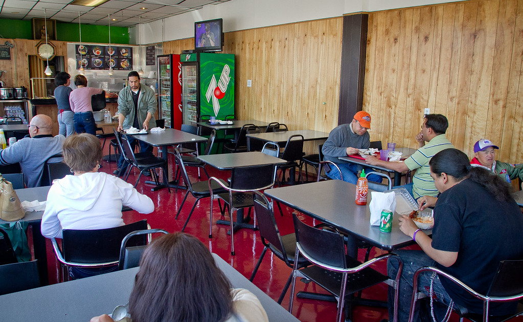People have lunch at Irma's Pampanga Restaurant in San Francisco, Calif., on April 27th, 2012.
