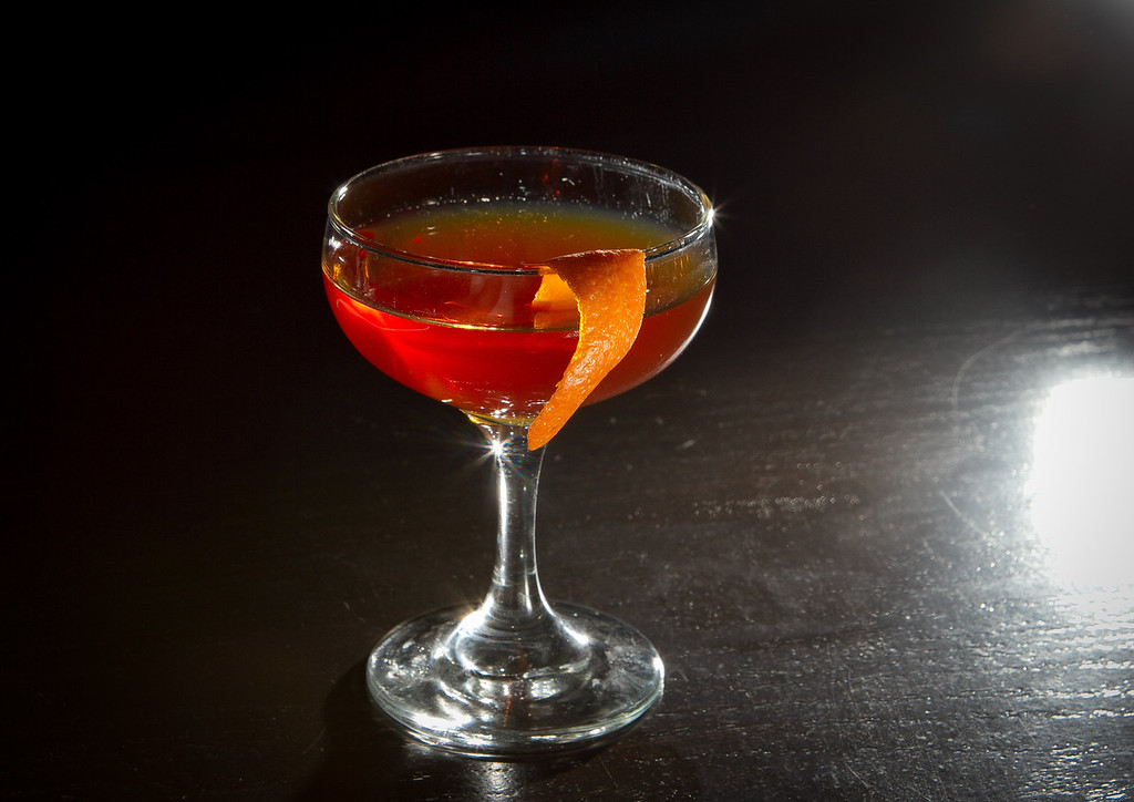 """The """"Age of Exploration"""" cocktail at Jasper's Restaurant in San Francisco, Calif. is seen on March 19th, 2012."""