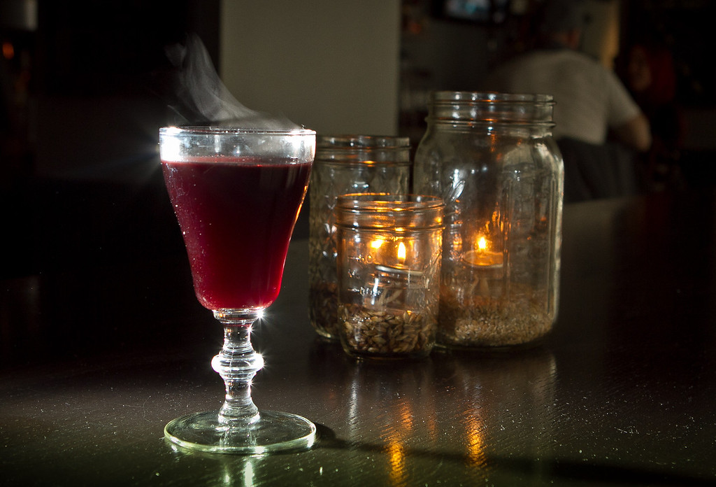 """The """"Glogg"""" cocktail at Jasper's Restaurant in San Francisco, Calif. is seen on March 19th, 2012."""