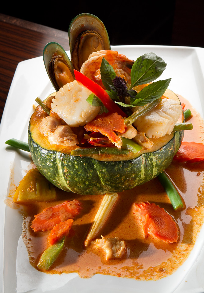 The Pumpkin Curry at Kacha Thai Bistro in Walnut Creek, Calif., is seen on Friday April 7th, 2012.
