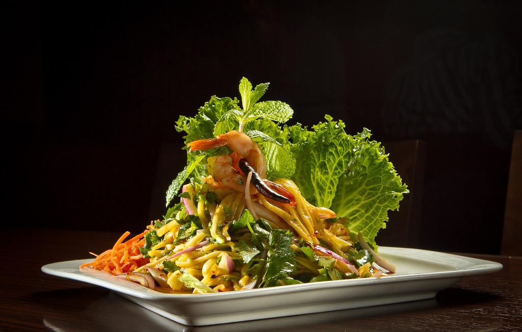 The Mango Salad at Kacha Thai Bistro in Walnut Creek, Calif., is seen on Friday April 7th, 2012.
