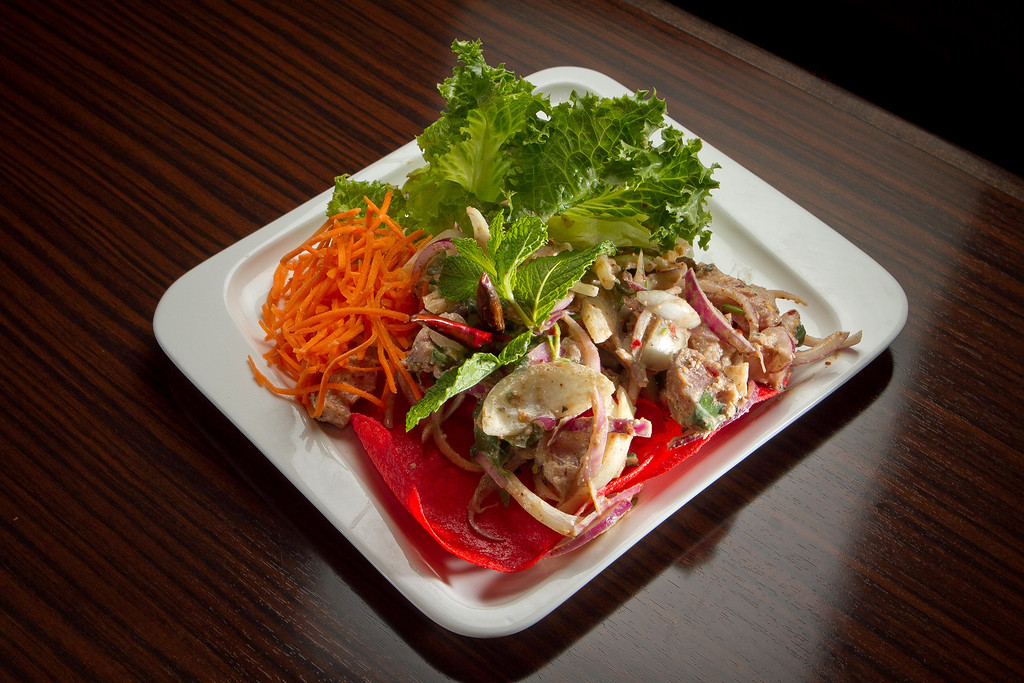 The Ahi Tuna Larb at Kacha Thai Bistro in Walnut Creek, Calif., is seen on Friday April 7th, 2012.
