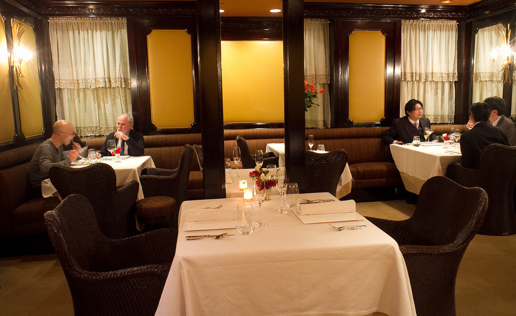 The main dining room at Keiko Restaurant in San Francisco, Calif., is seen on Friday, January 20th, 2012.