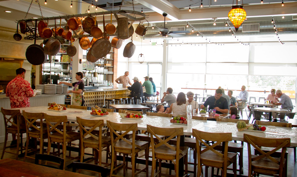 The interior of the Kitchen Door restaurant in Napa, Calif., is seen on August 12th, 2011.