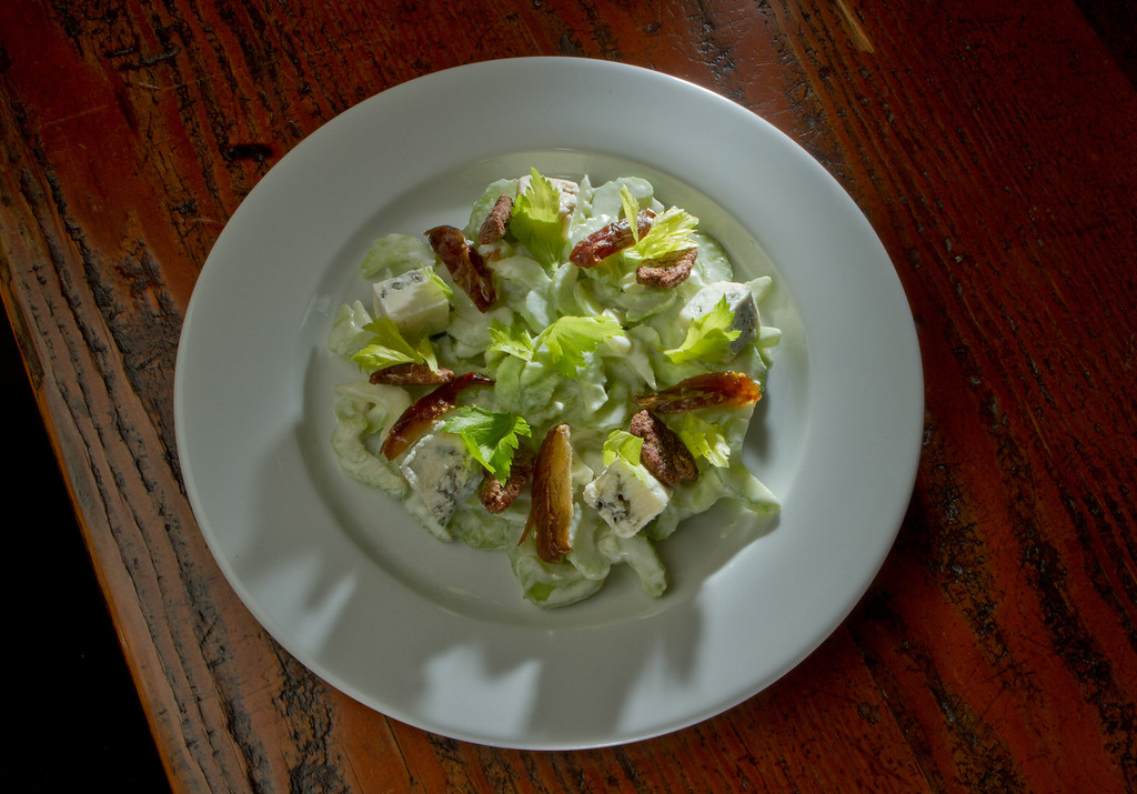 The shaved Celery Salad at the Kitchen Door restaurant in Napa, Calif., is seen on August 12th, 2011.