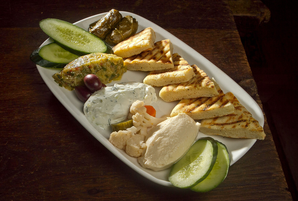 The Pita Platter at Kokkari Restaurant in San Francisco Calif., is seen on Thursday, March 1st, 2012.