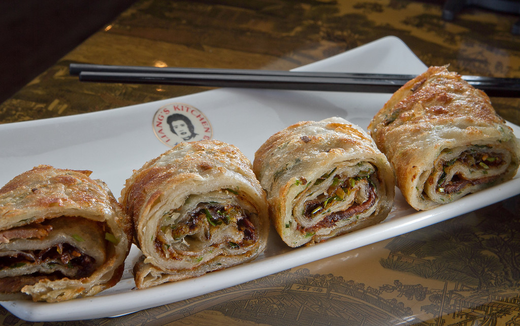 The Beef Pancakes at Liang's Kitchen in Dublin, Calif. is seen on Monday, April 16th, 2012.
