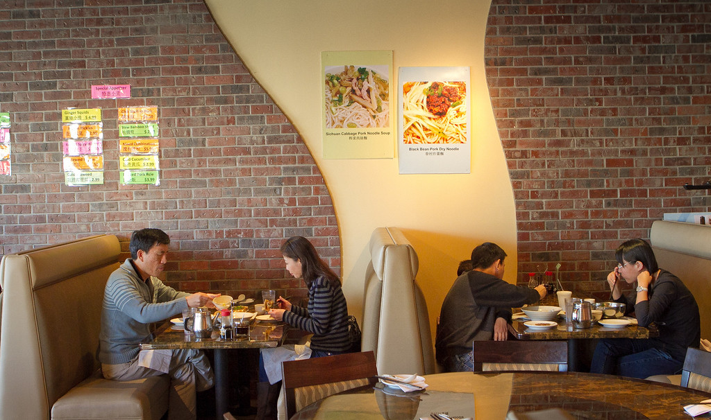 Diners enjoy lunch at Liang's Kitchen in Dublin, Calif. on Monday, April 16th, 2012.
