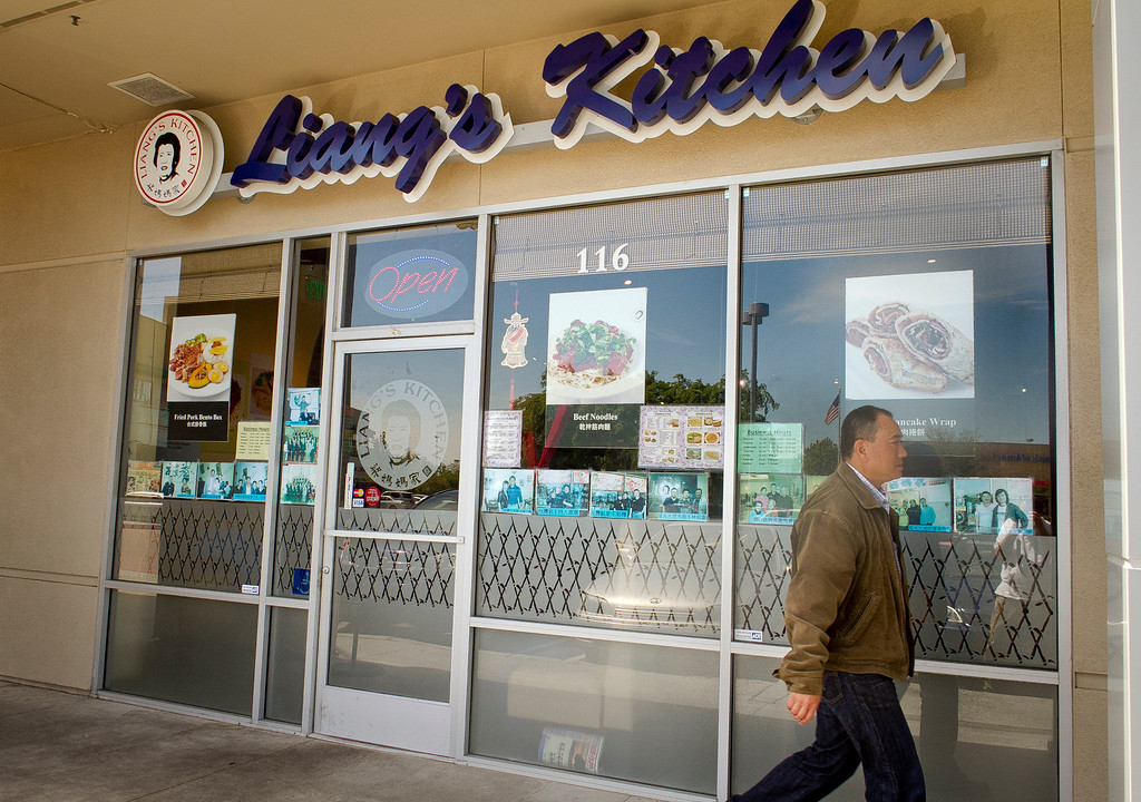 The exterior of Liang's Kitchen in Dublin, Calif.  is seen on Monday, April 16th, 2012.