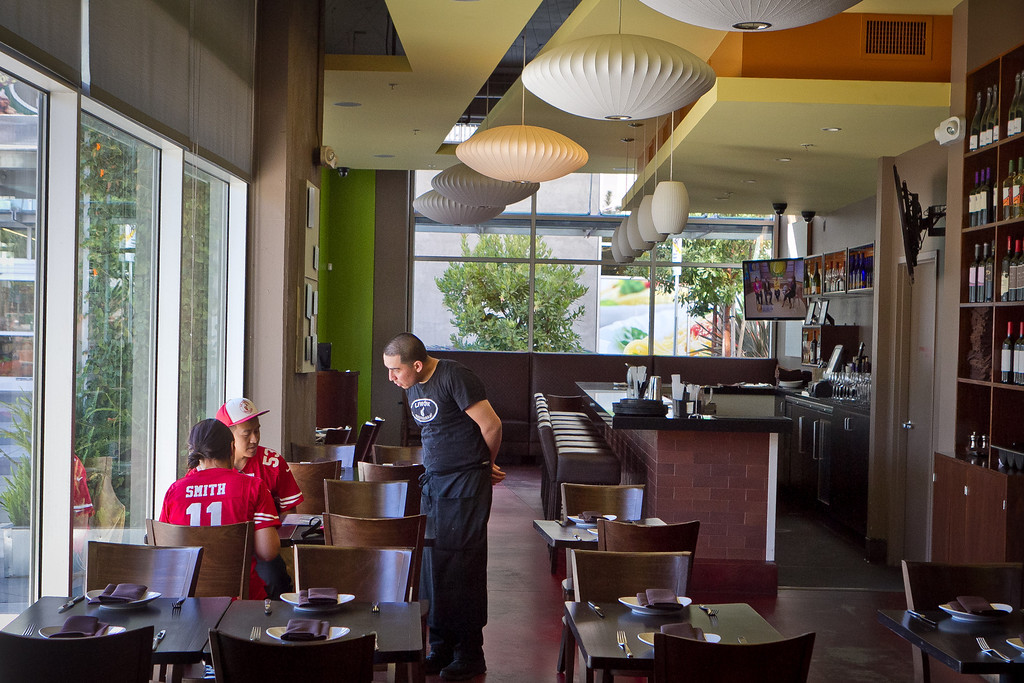 People order lunch at Limon Rotisserie in San Francisco, Calif., on Thursday, October 18th, 2012.