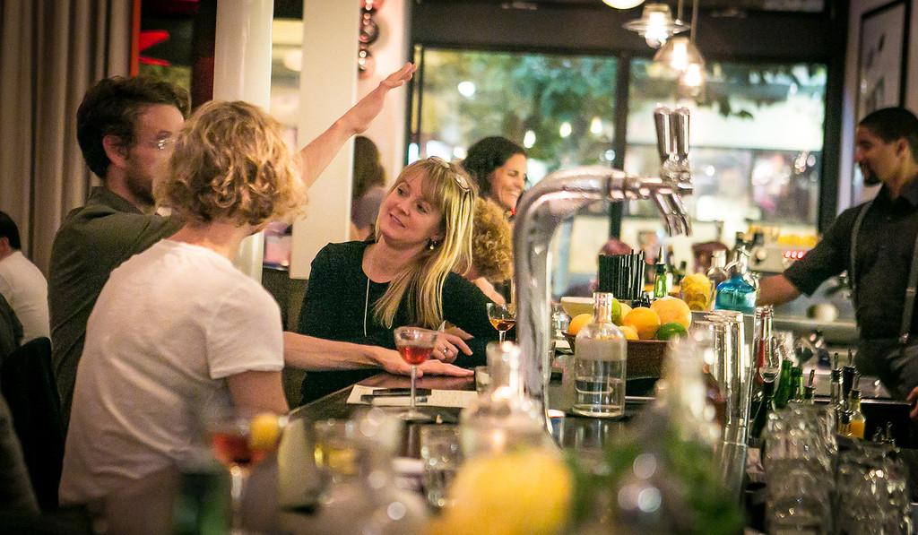 Diners enjoys cocktails at Locanda in San Francisco, Calif., on Friday, November 23rd, 2012.