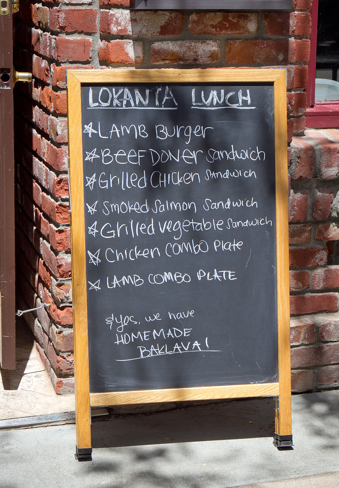 The specials board at Lokanta restaurant in Pleasanton, Calif., on Friday, June 15th, 2012.