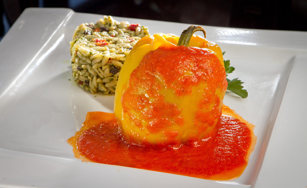 The stuffed Bell Pepper at Lokanta restaurant in Pleasanton, Calif., is seen on Friday, June 15th, 2012.