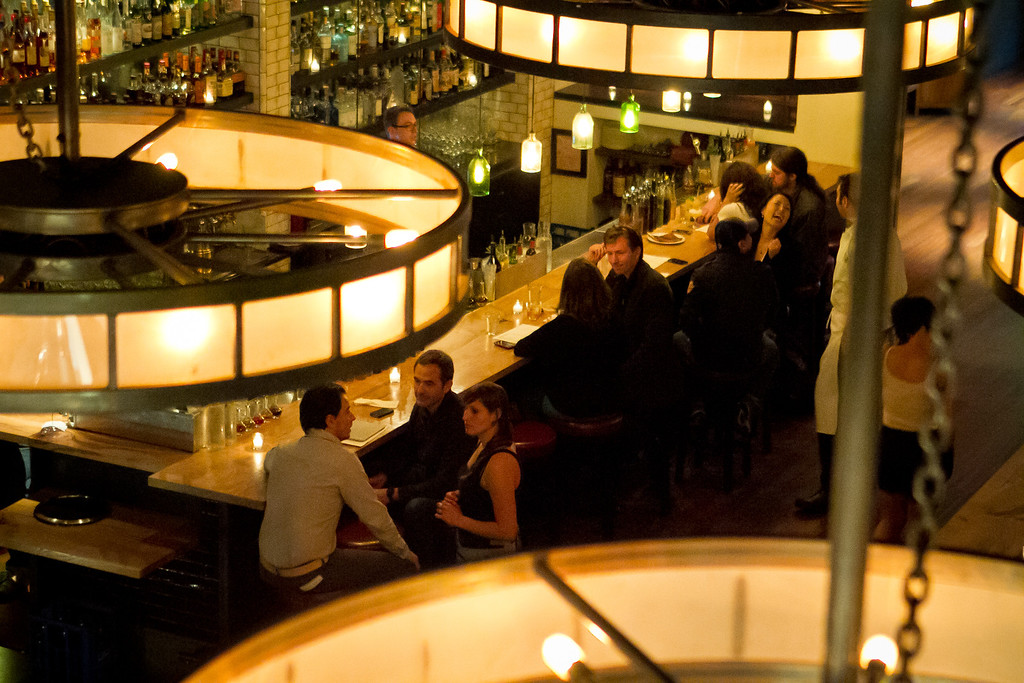 The bar at Lolinda Steakhouse in San Francisco, Calif., is seen on Friday, October 19th, 2012.