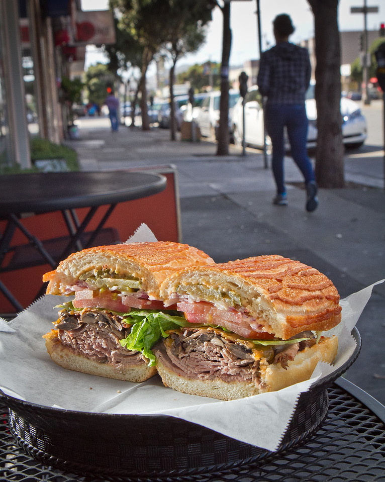The RB Mushroom sandwich at Lou's Cafe in San Francisco is seen on Friday, September 14th, 2012.