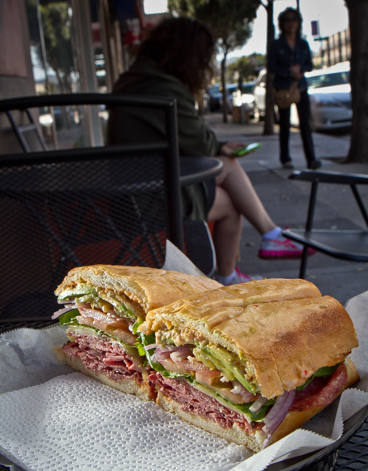 The Ami-Cado sandwich at Lou's Cafe in San Francisco is seen on Friday, September 14th, 2012.