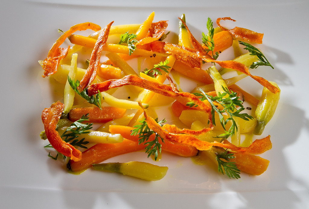The Freshly Dug Carrot Salad at Lucy Restaurant in Yountville, Calif., is seen on Saturday, May 26th, 2012.