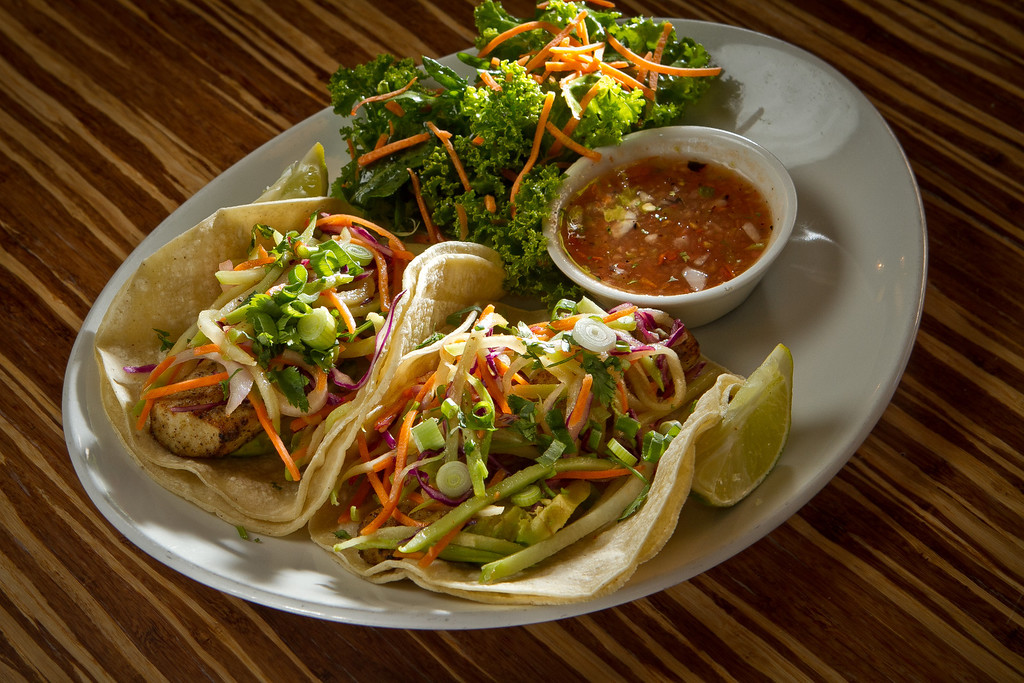 The Fish Tacos at Lyfe restaurant in Palo Alto, Calif., is seen on Saturday, June 9th, 2012.