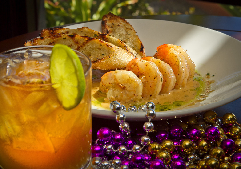 The Dark and Stormy cocktail with the BBQ Shrimp at Miss Pearl's in Oakland, Calif., is seen on Sunday, August 5th, 2012.