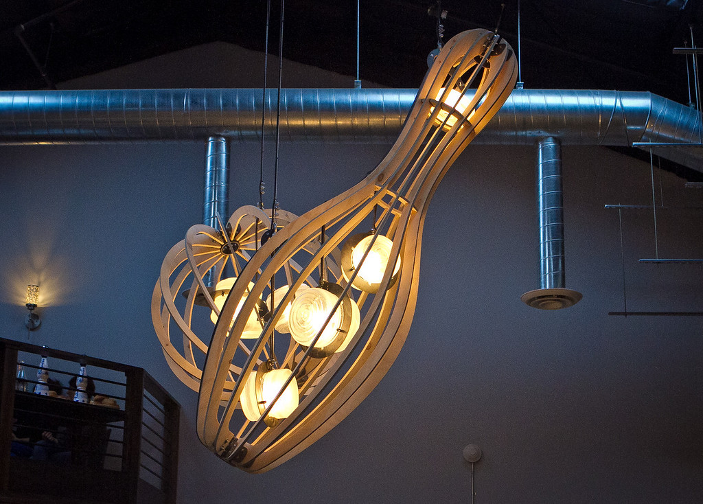 Lighting fixtures at the Mission Bowling Club in San Francisco, Calif., are seen on Friday, May 11th, 2012.