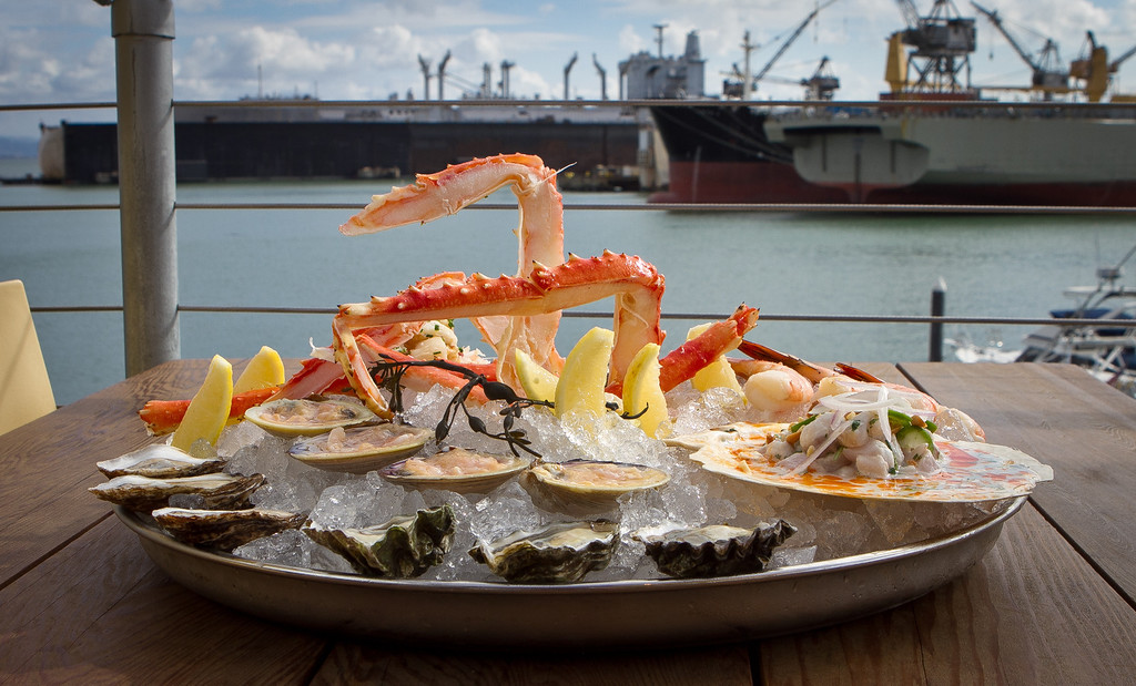 The Seafood Tasting Tour at Mission Rock Resort in San Francisco, Calif., is seen on Thursday, November 8th, 2012.