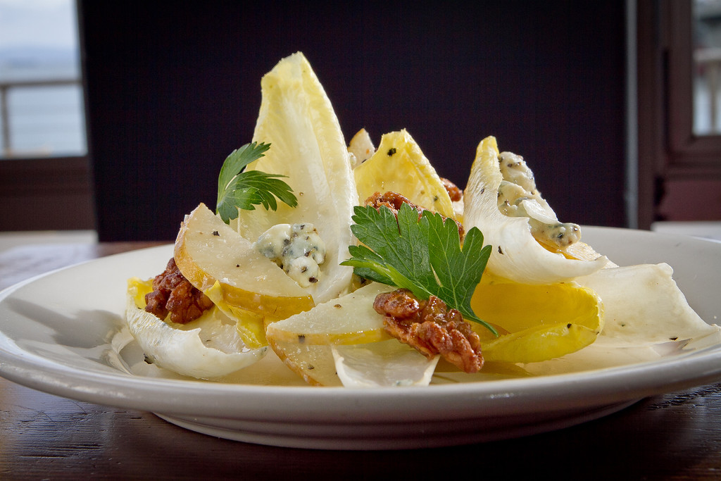 The Belgian Endive and Japanese Pear Salad at Mission Rock Resort in San Francisco, Calif., is seen on Thursday, November 8th, 2012.
