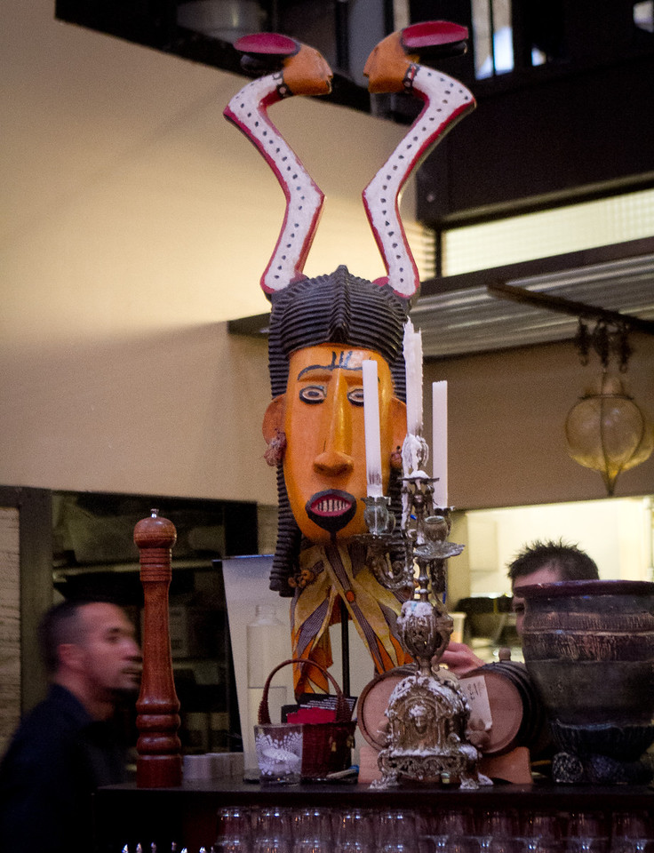 Art work in Mua Restaurant in Oakland,  Calif., is seen on Wednesday, March 14th, 2012.