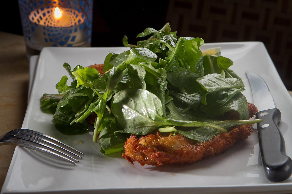 The Chicken Milanese at Mua Restaurant in Oakland,  Calif., is seen on Wednesday, March 14th, 2012.